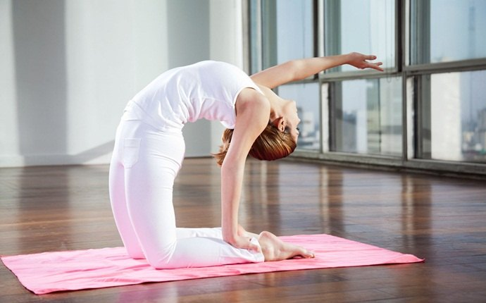 yoga asanas for weight loss - yoga camel pose