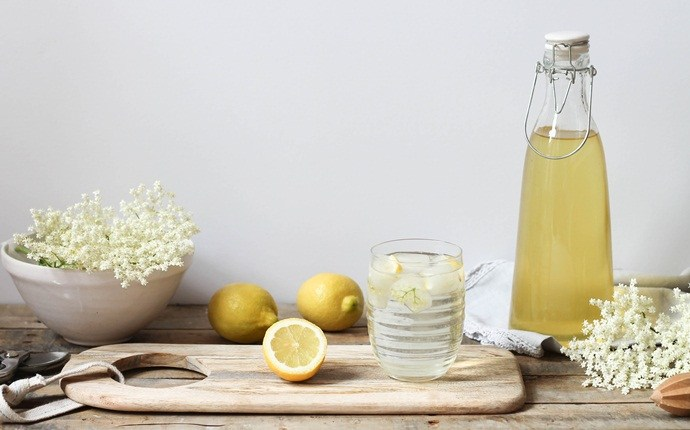 how to break a fever - elderflower tea