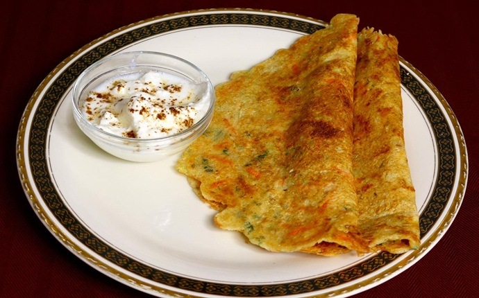 healthy pancake recipes - oats adai –lentils and oats pancake