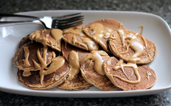 healthy pancake recipes - peanut butter pancakes