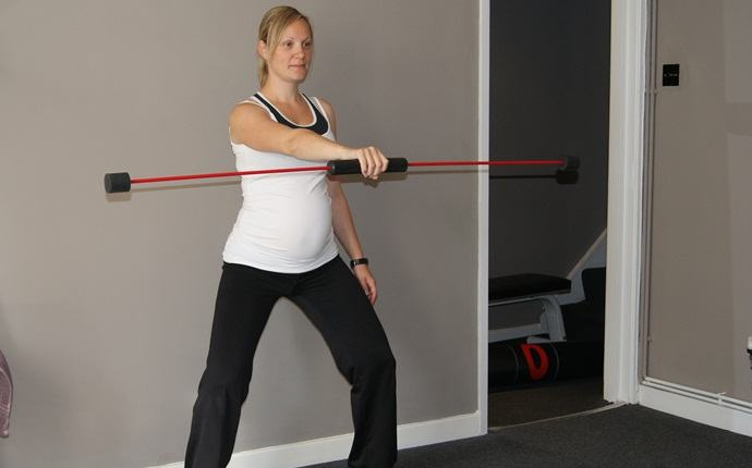 abdominal exercises during pregnancy - standing pelvic tilt