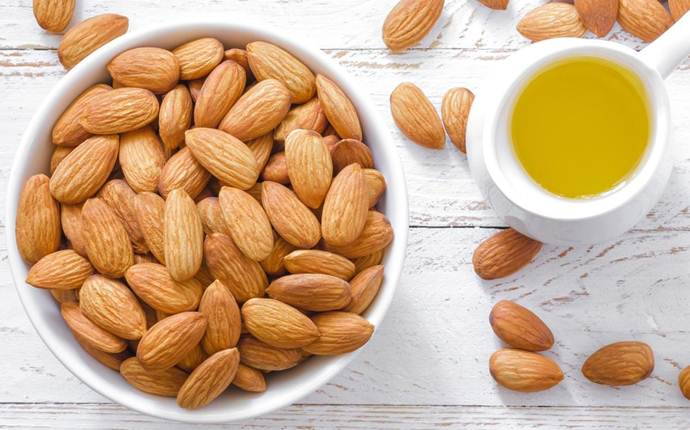 almond oil for dark circles - almond oil
