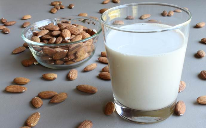 almond oil for dark circles - almonds and milk