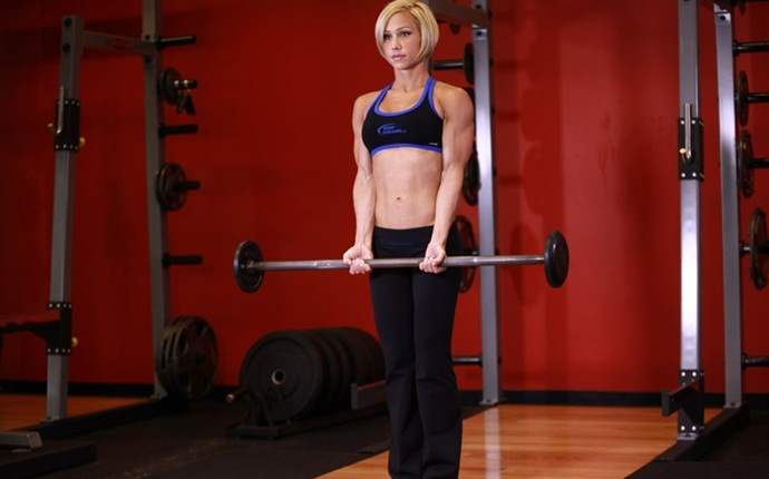 total body workouts - barbell curl