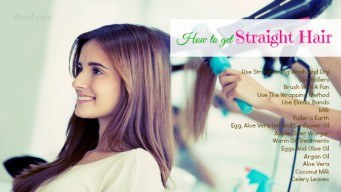 How to get straight hair