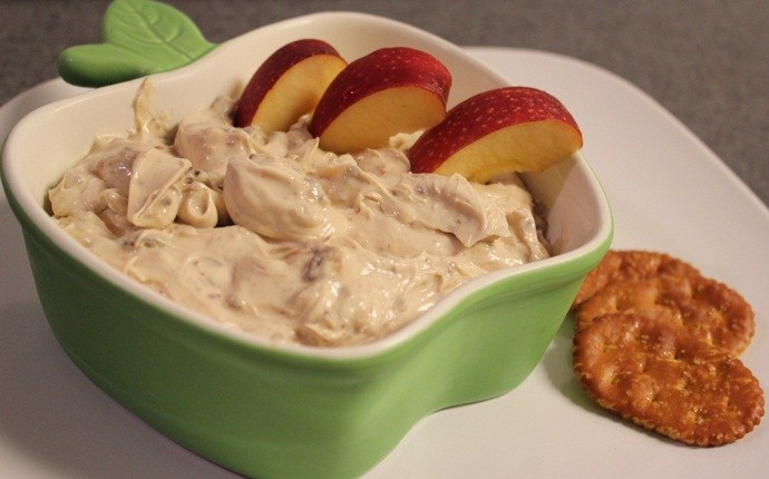 healthy snacks for teens - creamy cheese pretzel dip