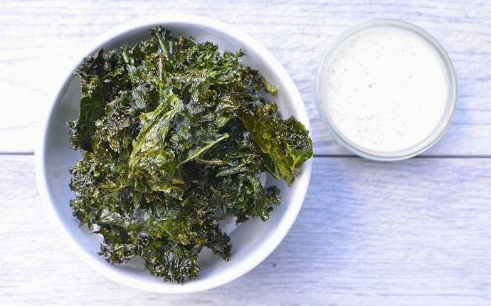 peanut free snacks - dressed-up kale chips