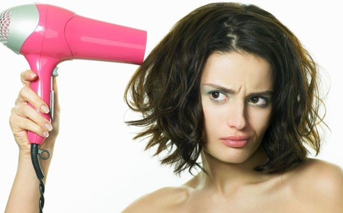 how to get rid of puffy hair - let dry naturally