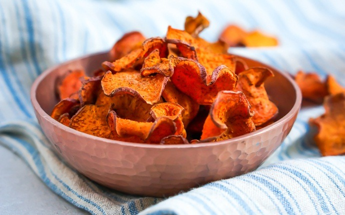 paleo snack recipes - paleo rosemary, sea salt and sweet potato chips