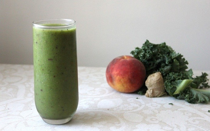 smoothie recipes for kids - peachy green