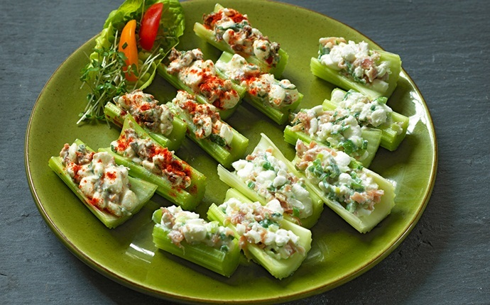 peanut free snacks - stuffed cucumber bites