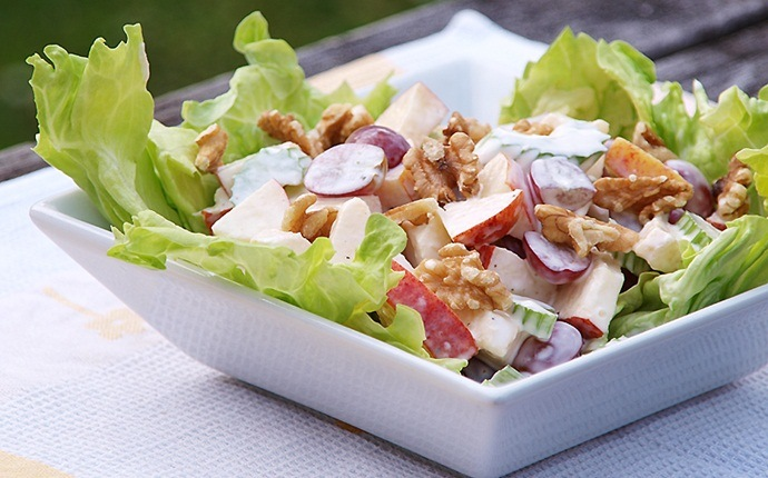 healthy apple recipes - updated waldorf salad