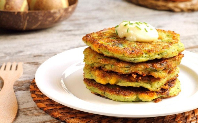 healthy snacks for teens - vegetable fritters