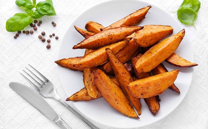 sweet potato recipes - glazed sweet potato spears