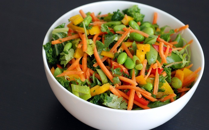 paleo salad recipes - lime tahini dressing with kale carrot salad