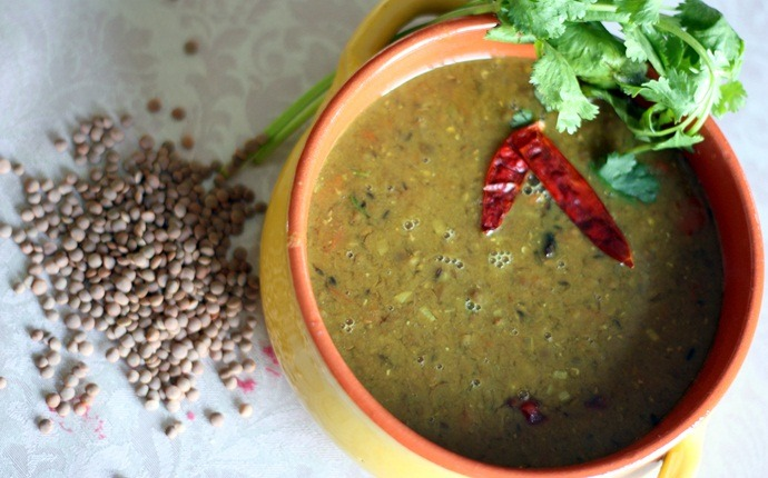 low calorie indian food - masoor dal soup