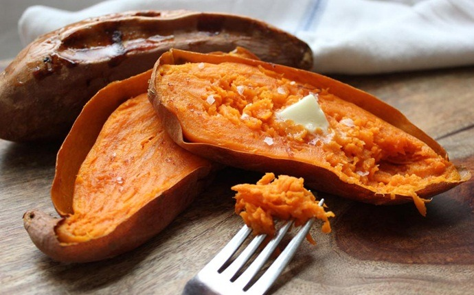 sweet potato recipes - oven-roasted sweet potato