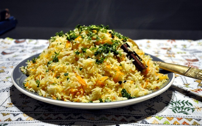 low calorie indian food - spinach pilau