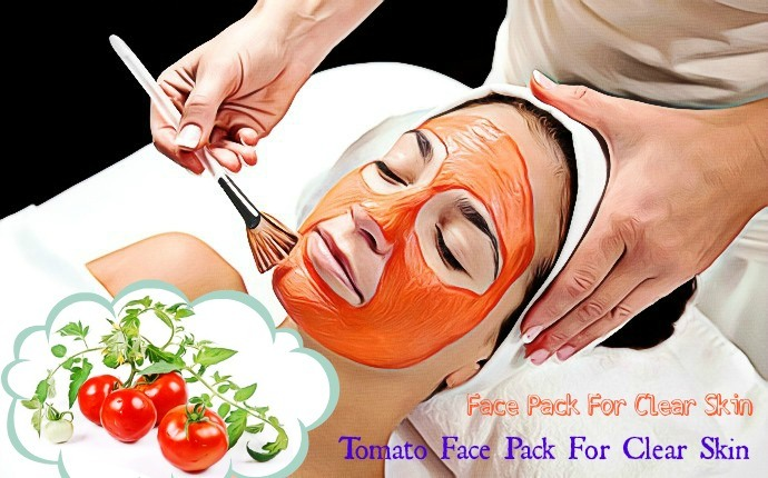 face pack for clear skin - tomato face pack