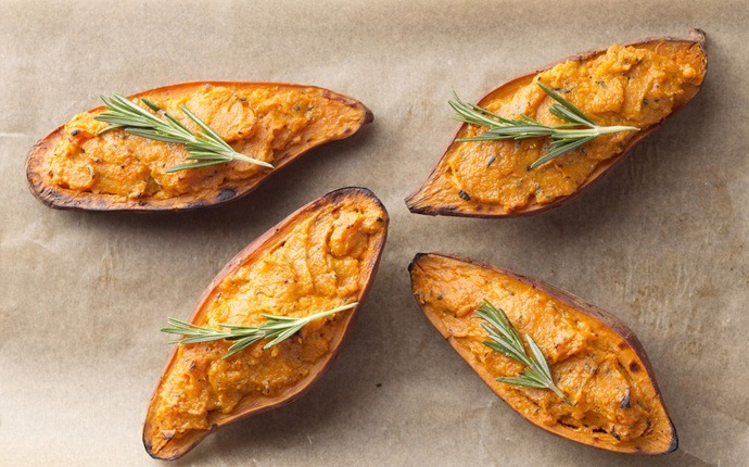 sweet potato recipes - twice-baked sweet potatoes