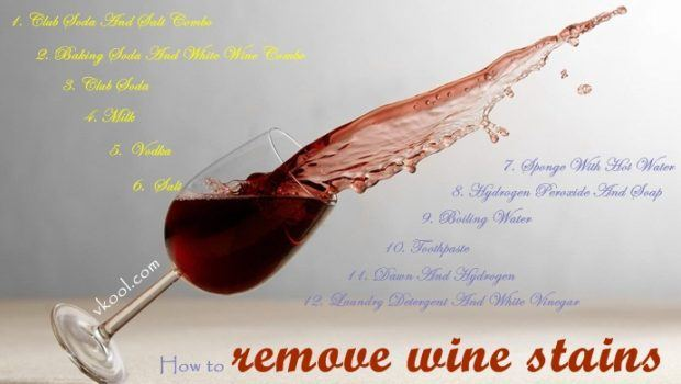 how to remove wine stains