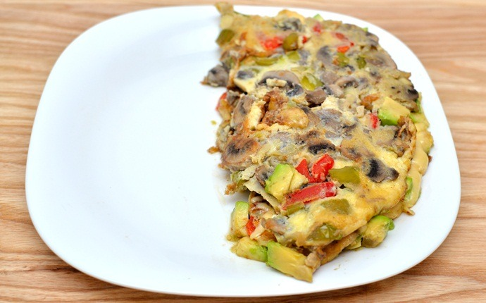 breakfast recipes for diabetics - vegetable omelet