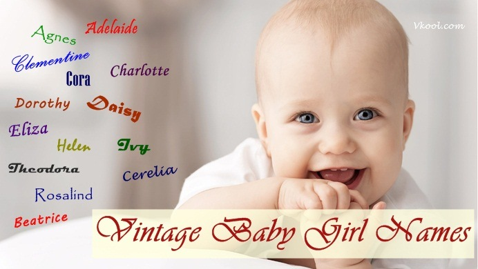 vintage baby girl names and meanings