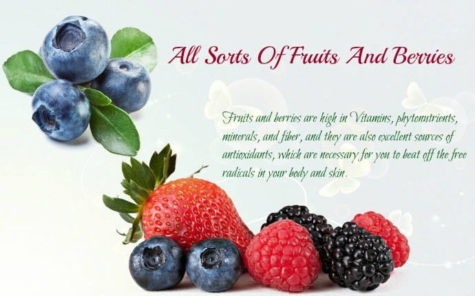all sorts of fruits and berries