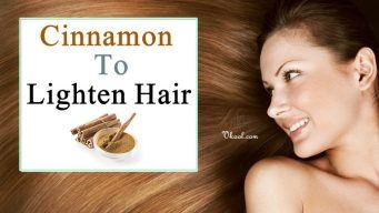 cinnamon to lighten hair