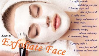 how to exfoliate face naturally