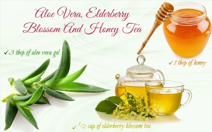 how to treat red eyes - aloe vera, elderberry blossom and honey tea