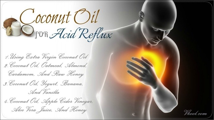 how to use coconut oil for acid reflux