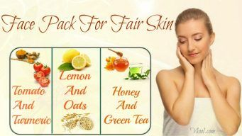 natural face pack for fair skin