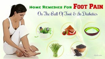 home remedies for foot pain on the ball of foot