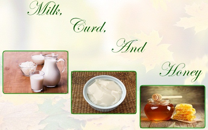milk, curd, and honey