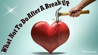 what not to do after a break up