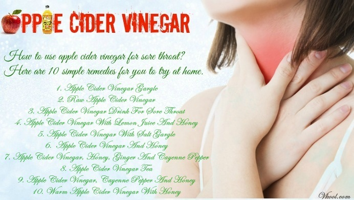 10 Ways On How To Use Apple Cider Vinegar For Sore Throat