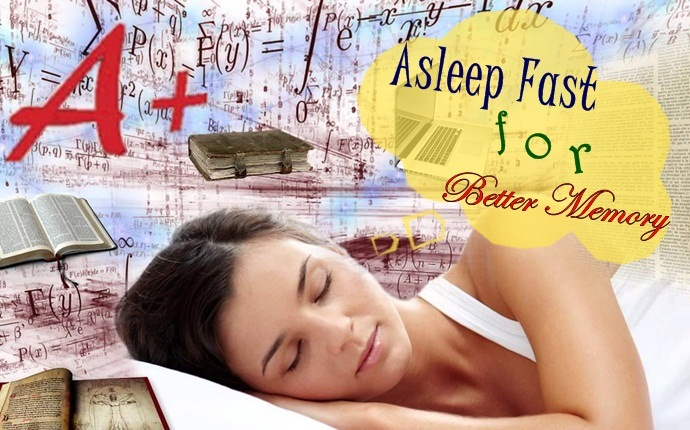 how to fall asleep fast - better memory