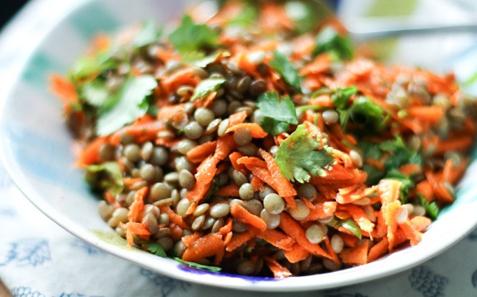 healthy carrot recipes - carrots and lentils