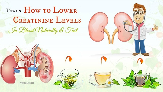 how to lower creatinine levels in blood