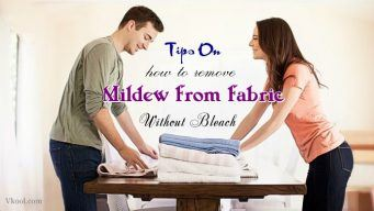 how to remove mildew from fabric without bleach