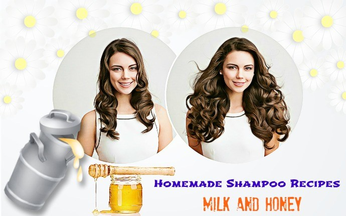 homemade shampoo recipes - milk and honey
