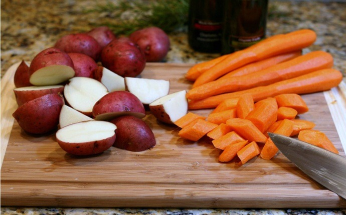 healthy carrot recipes - potatoes and carrots