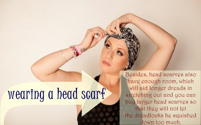 how to maintain dreadlocks - wearing a head scarf