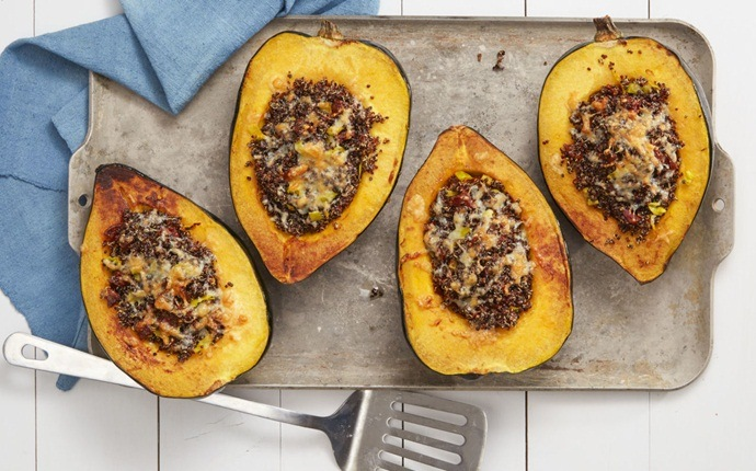 healthy squash recipes - citrus glazed banana squash