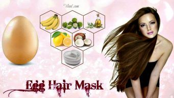 homemade egg hair mask
