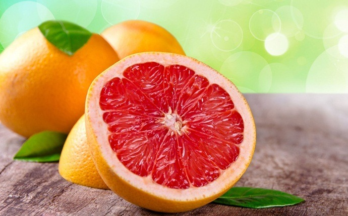 fruits with high water content - grapefruit