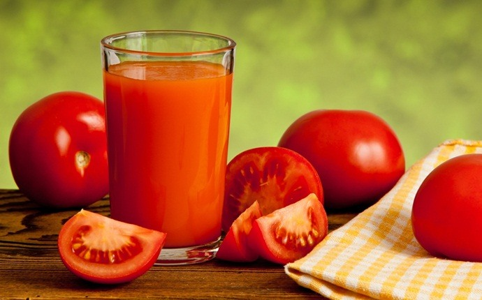 scalp acne treatment - tomato juice