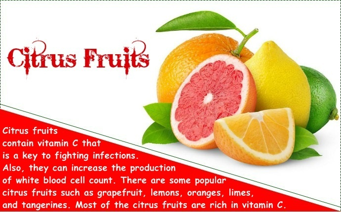 how to increase white blood cell count - citrus fruits