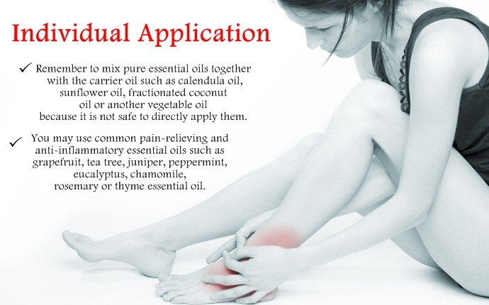 essential oils for swollen ankles - individual application